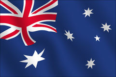 Australian Flag - Waving effect. The australian flag, with a waving effect Royalty Free Stock Photos