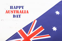 Australian flag on white wood background Stock Images