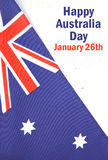 Australian flag on white wood background Stock Photo