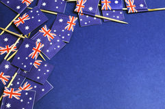 Australian flags background with copy space for your text here. Stock Photos