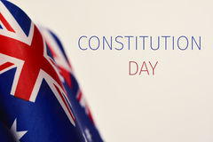 Australian flags and text Constitution Day royalty free stock images
