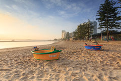 Australian foggy morning at Broadwater Royalty Free Stock Photo