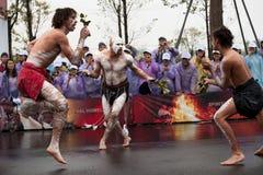 Australian folk dancers Royalty Free Stock Photography