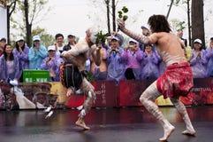 Australian folk dancers Royalty Free Stock Images