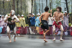 Australian folk dancers Stock Photo