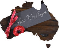 Australian Gallipoli Centenary, WWI, April 1915, tribute Stock Photo