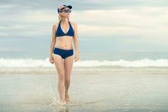 Australian girl at the beach Stock Image
