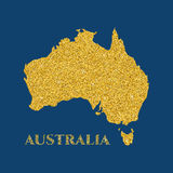 Australian glitter map Royalty Free Stock Images
