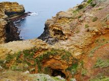 The Australian Grat Ocean Road. The grotto is a sinkhole geological formation found on the Great Ocean Road outside Port Campbell in Victoria in  Australia Stock Photos