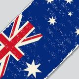 Australian grunge flag. Vector illustration. Royalty Free Stock Photos