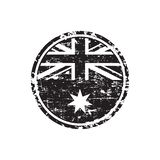 Australian grunge rubber stamp with flag, black isolated on white background, vector illustration. Australian grunge rubber stamp with flag, Australian sign vector illustration