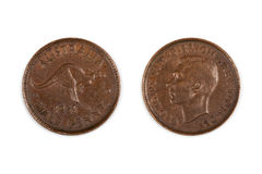 Australian Half Penny Coin Isolated Stock Images