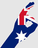 Australian hand signals Royalty Free Stock Photo