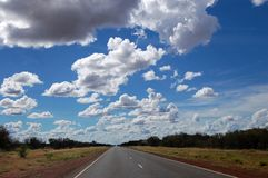 Australian highway Royalty Free Stock Images