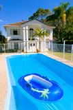 Australian Home. Luxury Home with swimming pool in Rockhampton, Queensland, Australia stock photo