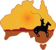 Australian Horseman Stock Photography