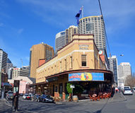 The Australian Hotel Celebrates 100 Years in Sydney royalty free stock images
