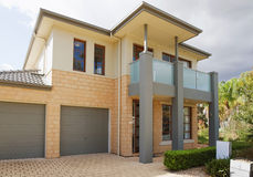 Australian house. Typical facade of a modern australian house at noon royalty free stock photography
