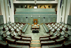 House of Representatives. The Australian House of Representatives in Parliament House, Canberra, Australian Capital Territory, Australia Royalty Free Stock Images