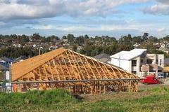 Australian house under construction stock images