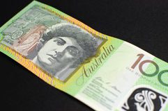Australian hundred dollar note - angle Stock Photography