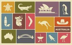 Australian icons Stock Image