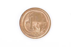 Australian idoso uma moeda do centavo Foto de Stock