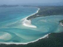 Australian Island. Whitehaven Island Beach at the Whitsunday Island group, Queensland, Australia Royalty Free Stock Photo