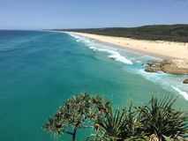 Australian island beach. Beach on North Stradbroke Island, Australia Royalty Free Stock Photography
