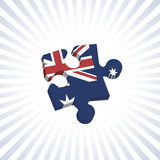Australian Jigsaw Piece Royalty Free Stock Image
