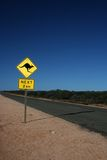Australian kangaroo road sign Royalty Free Stock Photo