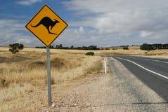 Australian kangaroo roadsign Stock Image
