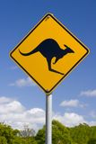 Australian Kangaroo Sign Stock Images