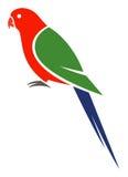 Australian King Parrot. Stylized Australian King Parrot - vector illustration Royalty Free Stock Photos