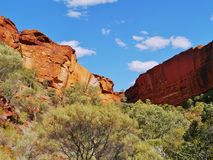 The Australian Kings Canyon Royalty Free Stock Photography