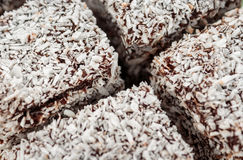 Australian Lamington cake Stock Photos