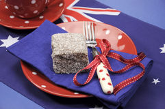 Australian lamington close up. Royalty Free Stock Image