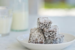 Australian lamingtons Stock Photo