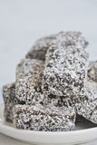 Australian lamingtons Stock Images