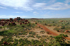 Australian landscape. Landscape around Devil Marbles, Northern Territory, Australia Royalty Free Stock Photography