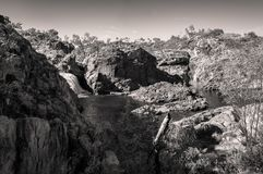Australian Landscape in black and white -Edith Falls, Australia Royalty Free Stock Photography