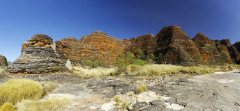 Australian landscape with geological feature of rolling hills. Stock Photo