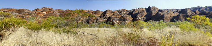 Australian landscape with geological feature of rolling hills. Royalty Free Stock Photo