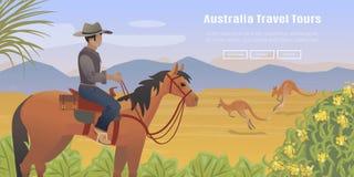 Australian landscape poster Stock Images