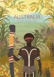 Australian landscape  poster Royalty Free Stock Photos