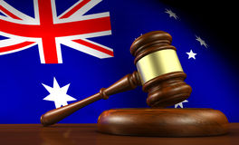 Australian Law Legal System Concept. Australia laws, legal system and justice concept 3D illustration Royalty Free Stock Photography