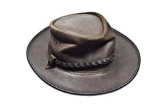 Australian leather hat isolated royalty free stock photography