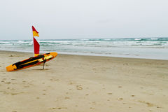 Australian lifeguard gear on the beach Royalty Free Stock Image