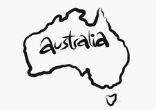 Australian map royalty free stock photos