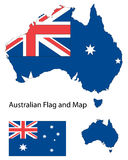 Australian map and flag Royalty Free Stock Photos